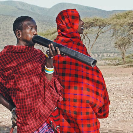 The Maasai own the intellectual property to their cultural prints and patterns © Harvey Barrison