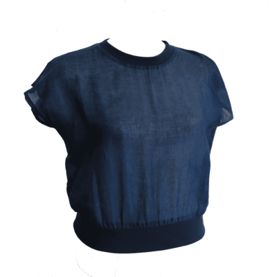 hand dyed indigo tshirt