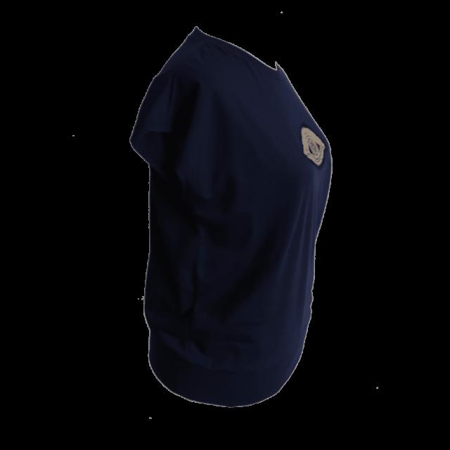 navy tshirt with eye applique