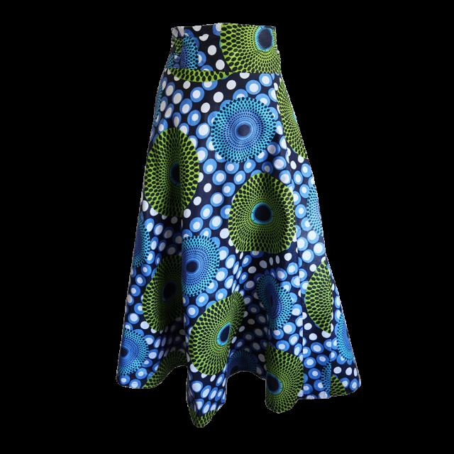 Dot print maxi wrap skirt