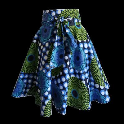 Dot print midi wrap skirt