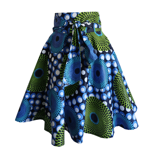 Dot print midi wrap skirt