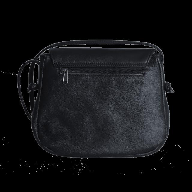 mini saddle bag back, black